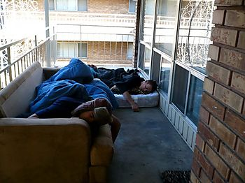 Sleeping on the porchdenver