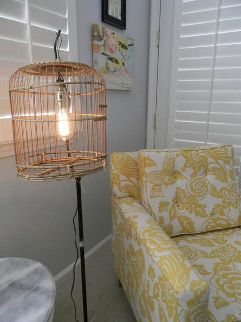 Diy bird cage floor lamp whatever blogbirdcage 015 add kit to bird cage aloadofball Image collections