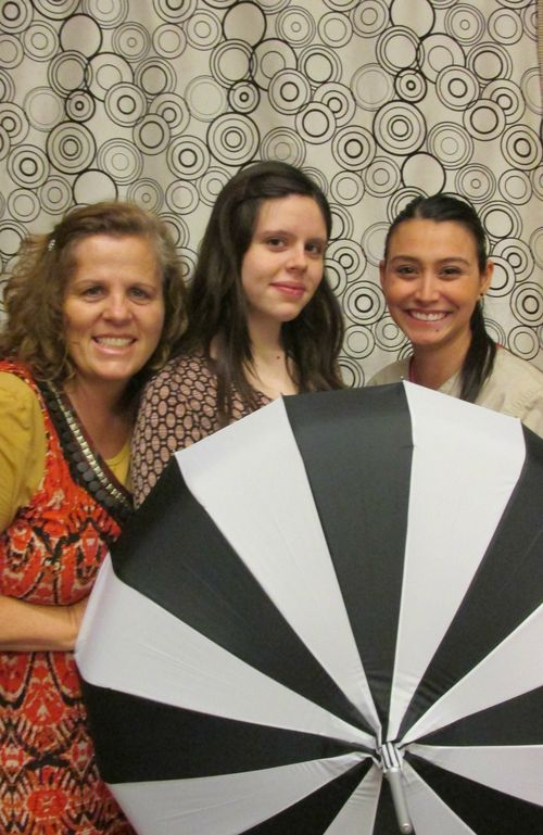 Relief society umbrella girls