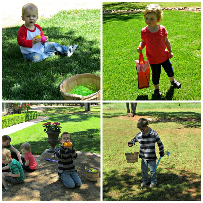 Family easter hunt cole Collage