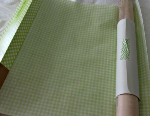 Cooking class green paper