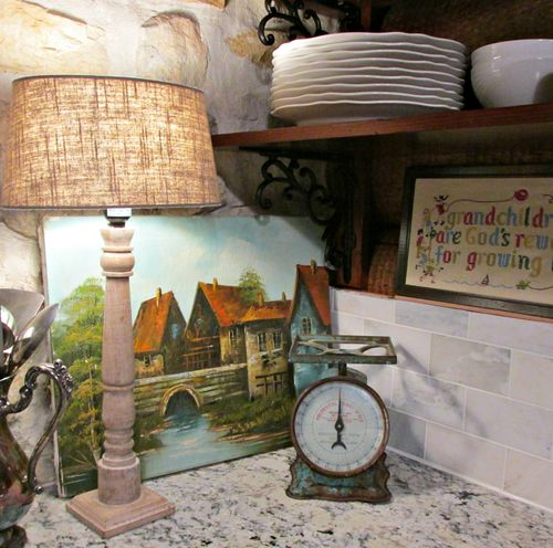 Cabin wood lamp