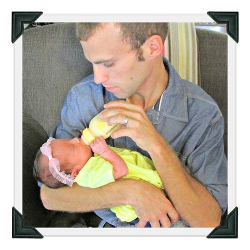 Mason feeding Alene