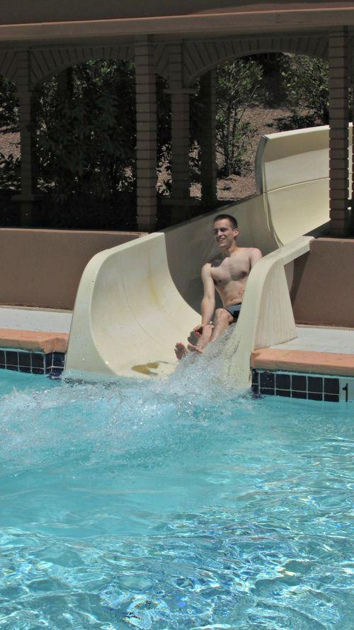 Westin resort Denver going down slide