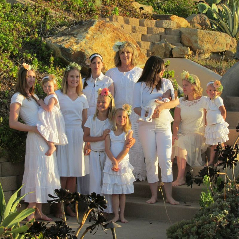 Girls in white group shot 1