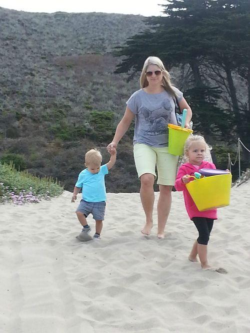 Sunset beach heidi and kids