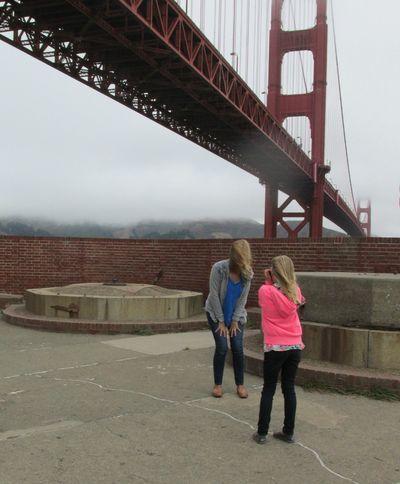 Shannon and Anna Golden state bridge