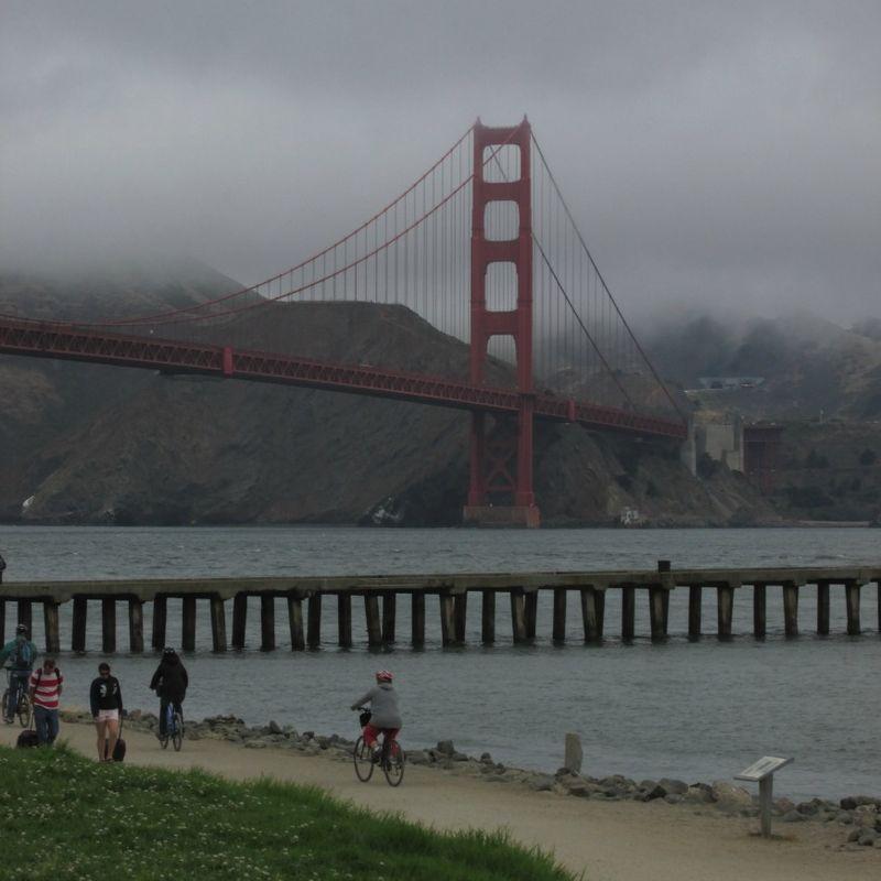Golden state bridge beach