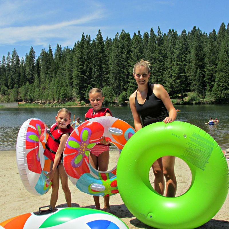 Cabin lake inter-tubes