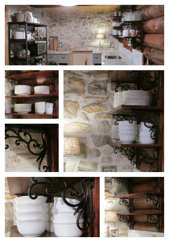 Cabin unfitted kitchen Collage