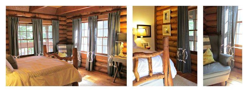 Cabin master bedroom Collage