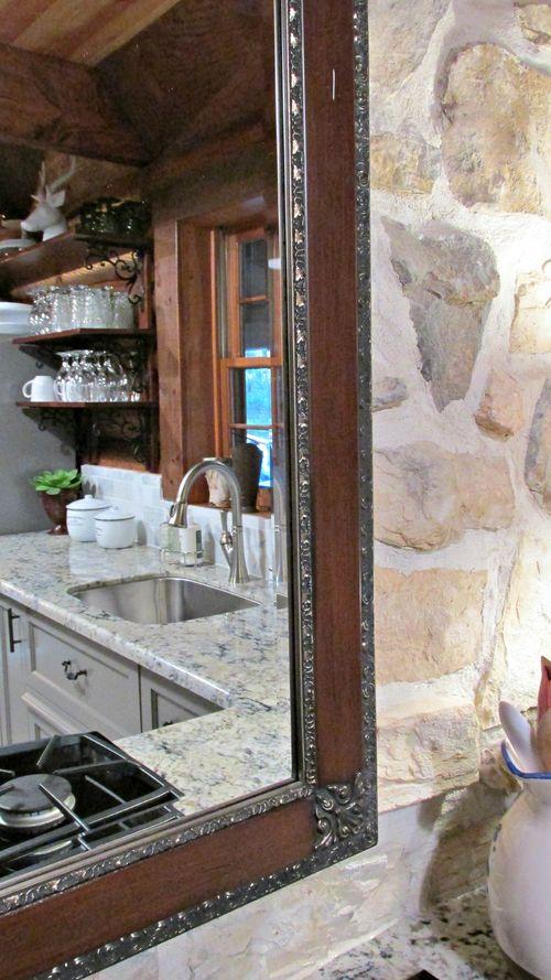 Cabin kitchen mirror
