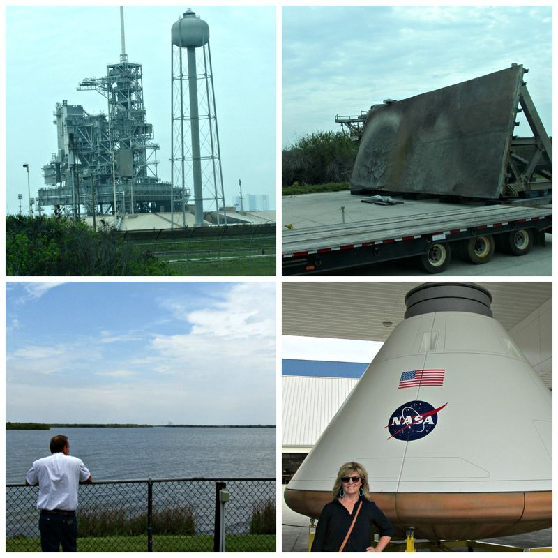 Kennedy space center launch Collage