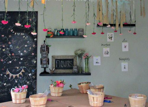 Flower potluck room