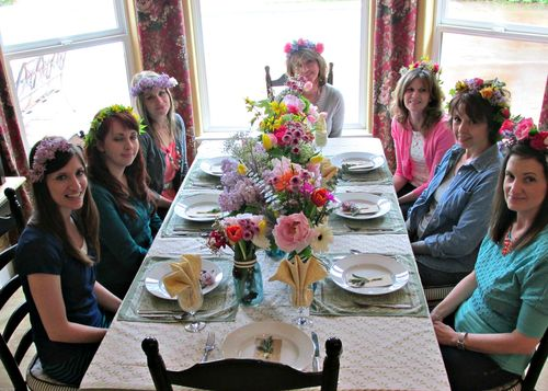 Flower potluck lunch ladies