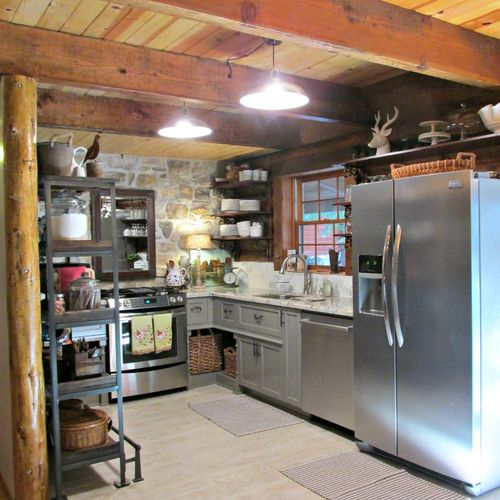 Cabin kitchen April