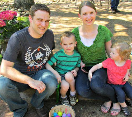 Family easter egg hunt kents family