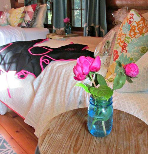Cabin flowers