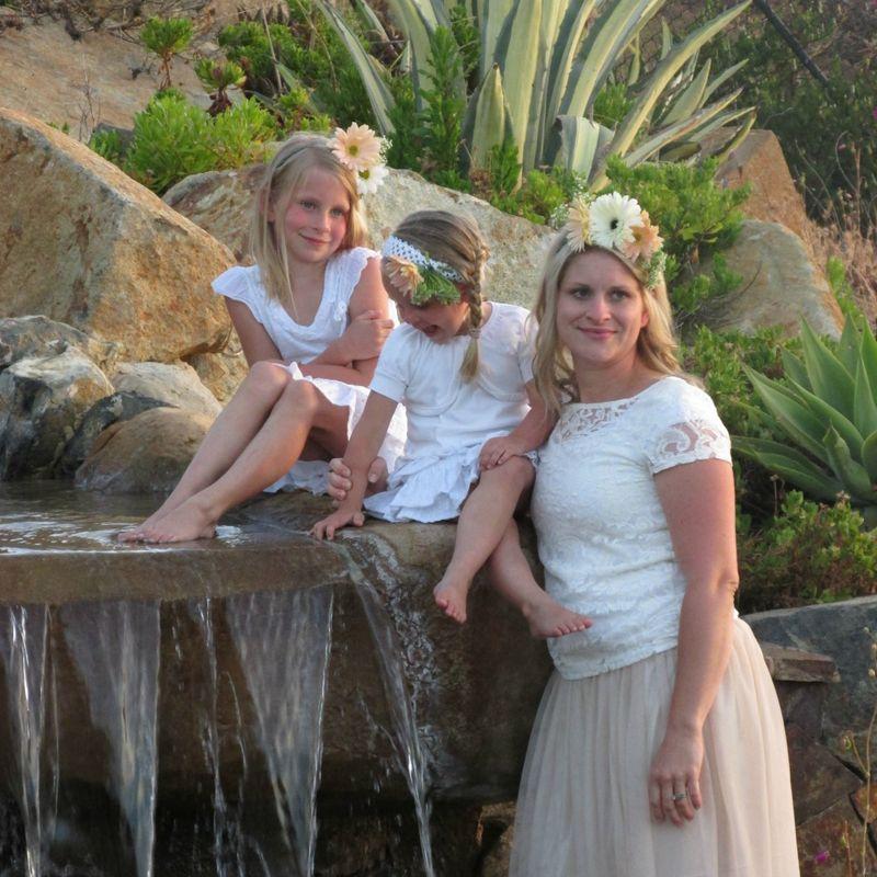 Girls in white heidi and girls