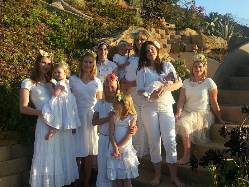 Family girls in white small