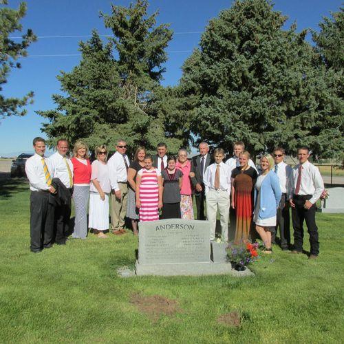 Graveside service- family