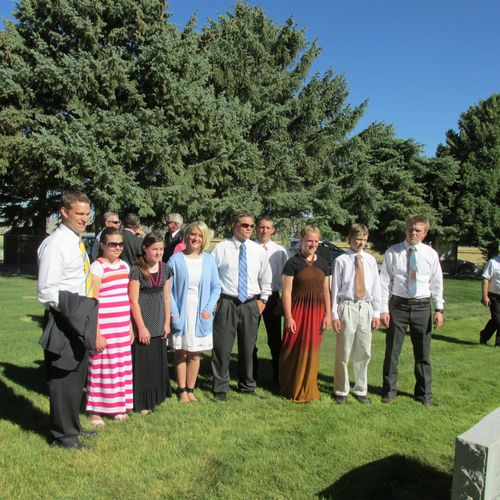 Graveside service- grandchildren