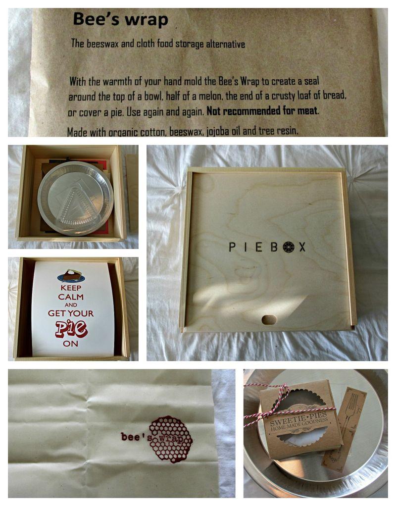 Pie in july pie box Collage