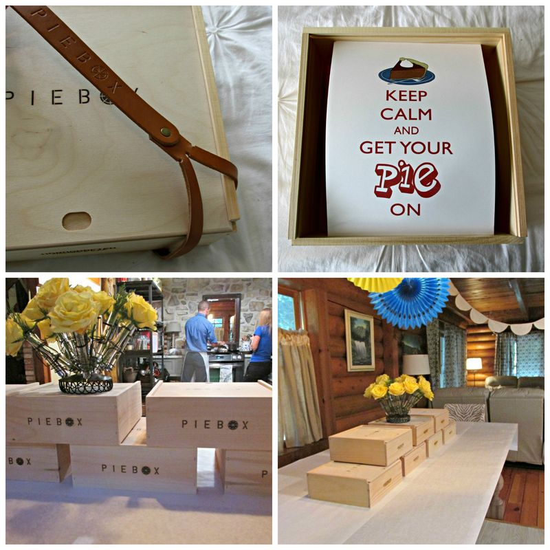 Pie box table Collage