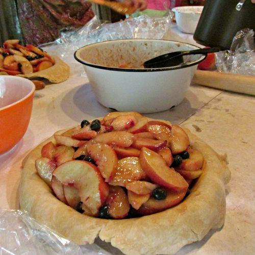 Pie in july pie pan