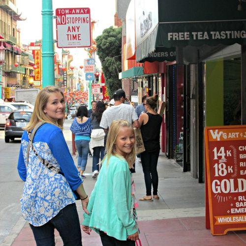 San Francisco China Town Shannon and Anna