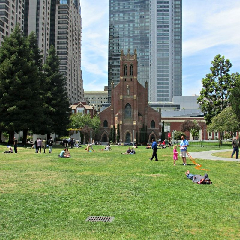 San Francisco church and park