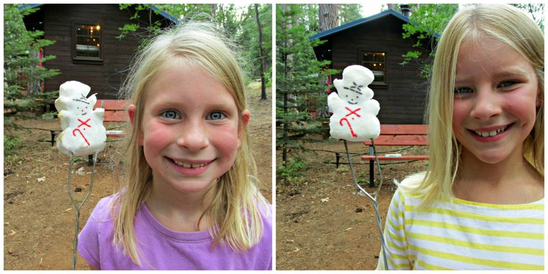 Cabin carlee and Anna snowman Collage