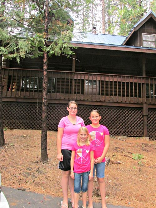 Girls day at the cabin girls in pink