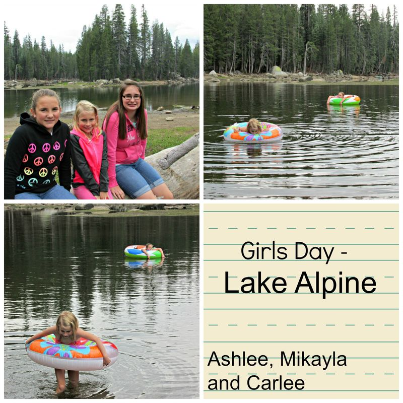 Girls day lake Collage