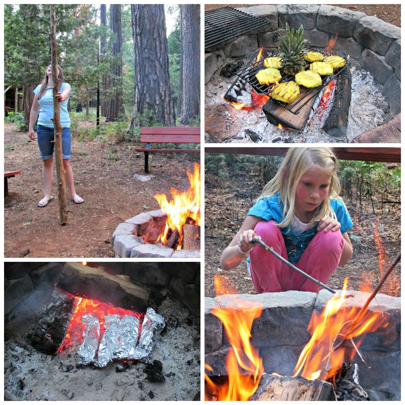 Girls day at the cabin food Collage