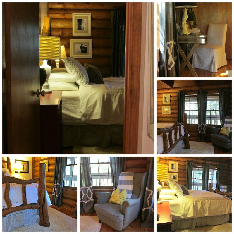Cabin master bed-room Collage