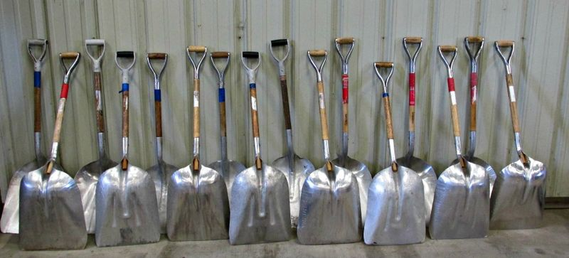 Nut house shovels