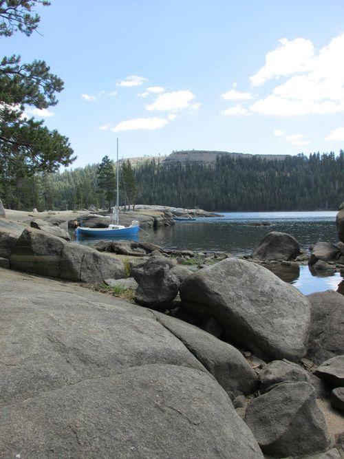 Picnic lake and boat