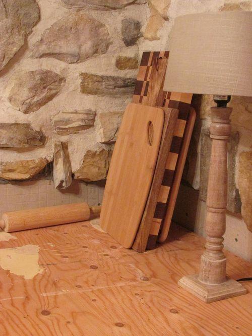Cabin kitchen rock