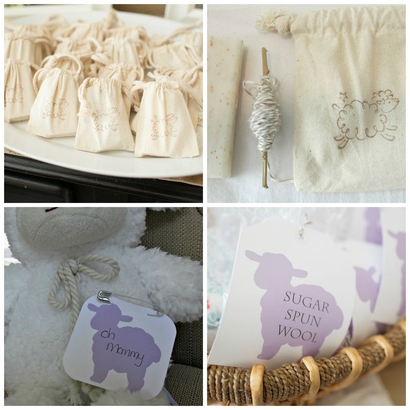 Baby shower favors Collage