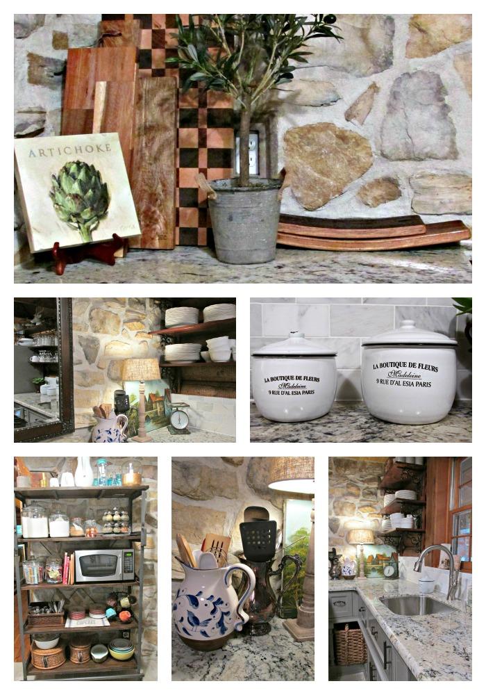Cabin kitchen  rock Collage