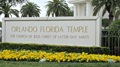 Orlando Florida Temple sign