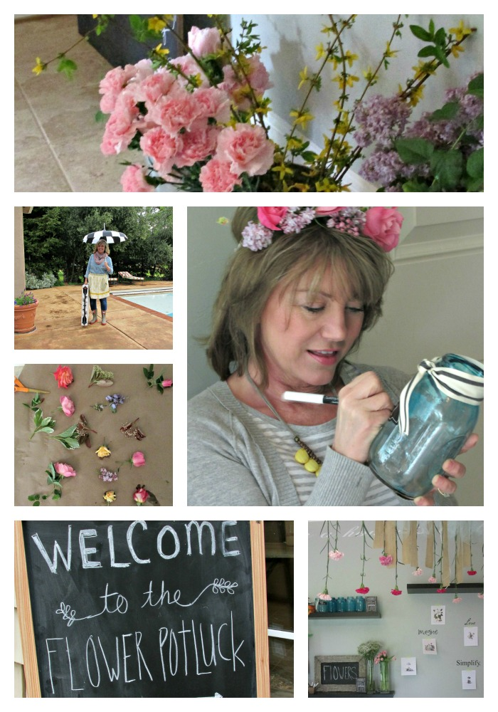 Flower potluck Sandi Collage