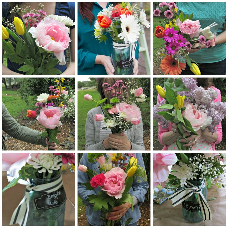 Flower potluck Bouquet collage