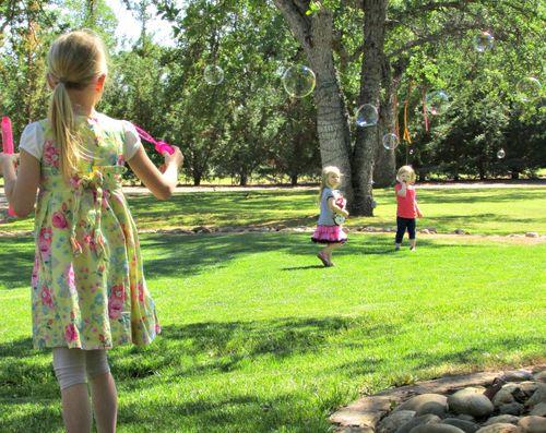Family easter egg hunt bubbles carlee
