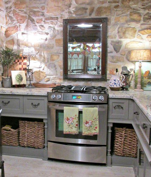 Cabin kitchen stove
