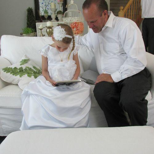 Carlee and papa batism