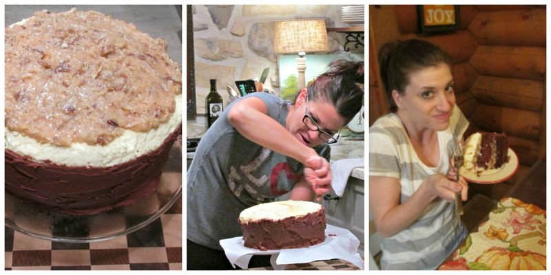 Chris' Outrageous Chocolate cake Collage
