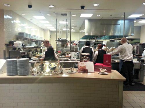 LV Paris Resturant kitchen