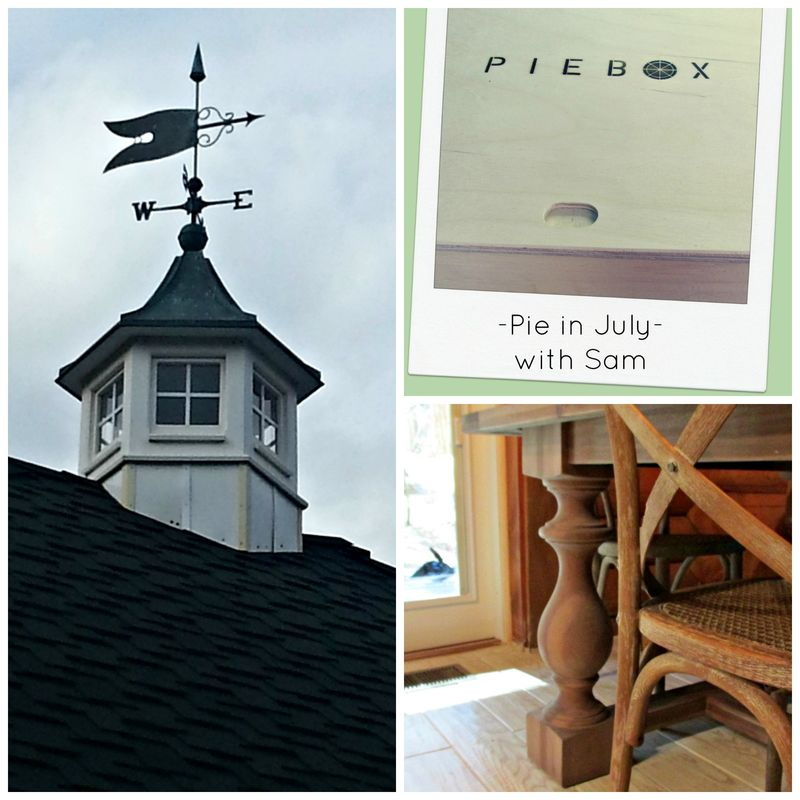 Weather-vane pie chairs